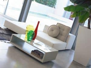 Frizzante, Tavolino da salotto con ruote, piano laccato