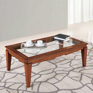Giorgia GIORGIA3031, Tavolino con piano in vetro trasparente