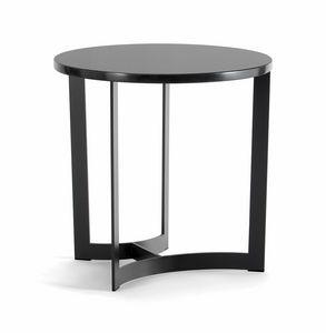 HUGO COFFEE TABLE 088 C H44 - 088 N H44, Tavolini tondi con base in metallo