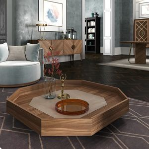 Intrigue tavolo basso, Tavolino basso ottagonale, in stile classico contemporaneo
