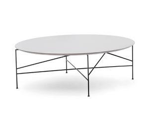 Line 703TD - 703L - 703M, Tavolino tondo con base in metallo