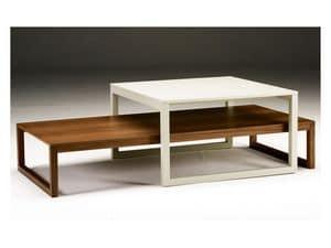 Razio, Tavolino da salotto con struttura in legno