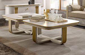 Oliver Art. OL26, Tavolino quadrato per salotto