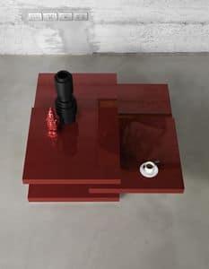 Rotor, Tavolo con 3 piani rotanti, per salotti di design