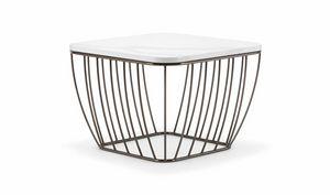 SEATTLE COFFEE TABLE 089, Tavolini con base leggera e raffinata