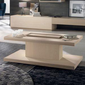Spazio Contemporaneo SPAZE1047, Tavolino in legno, con vassoio estraibile