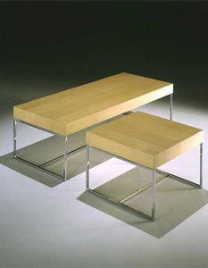 Square tavolino, Tavolino da salotto con base in tubolare, per reception