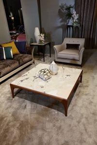 TETI Tavolini, Tavolini con piano in marmo Dover White