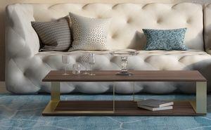 Vesta, Tavolino in legno e metallo, dal design minimale