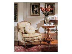 3210 TAVOLINO, Tavolino rotondo per salotti classici di lusso, foglia oro