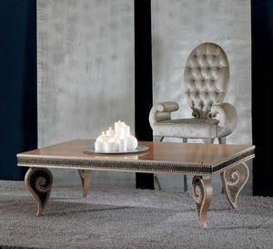 418T 90x140, Tavolino dal design classico