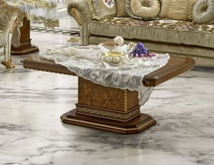 Aida coffee table, Elegante tavolino per salotti classici