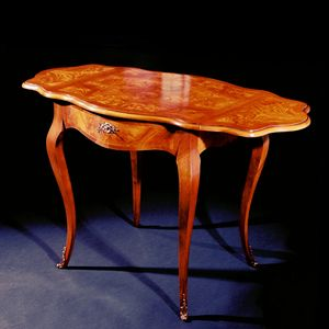 Art. 106/F Napoleone, Tavolino classico con piano allungabile