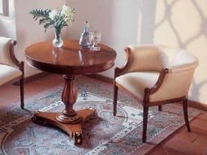 Art. 1070, Tavolino rotondo per salotti classici