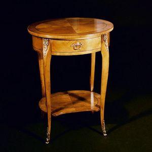 Art. 115/C Ciliegio, Elegante tavolino ovale per soggiorno