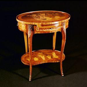Art. 118 Ambulante, Tavolino classico con intarsi artigianali
