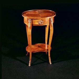 Art. 142/C Ciliegio, Tavolino ovale in legno di ciliegio