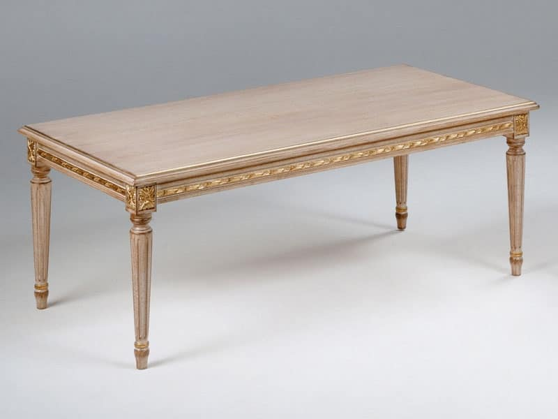 Art. 261/120, Tavolino in legno, rettangolare, in stile Luigi XVI