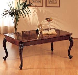 Art. 294/R, Tavolino legno, gambe intagliate, per l'arredamento classico