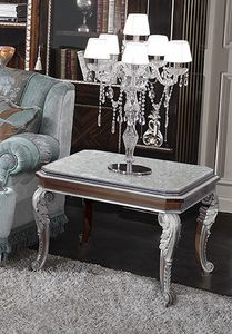 ART. 2948/P, Tavolino in marmo finiture ghiaccio