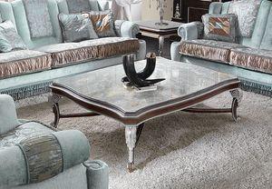 ART. 2948, Tavolino rettangolare con piano in marmo