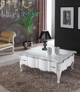 Art. 3222, Tavolino quadrato laccato bianco