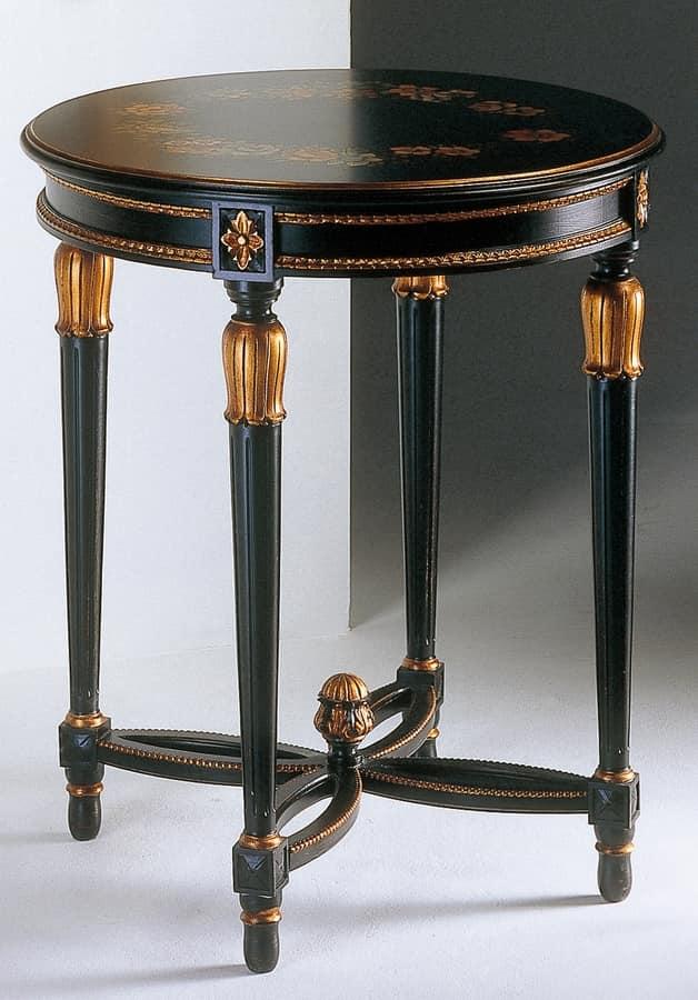 Art. 535/AN Anastasya, Tavolino intagliato, in stile Luigi XVI, per salotto
