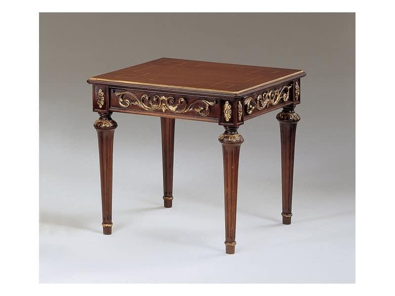 Art. 911 Decò, Tavolini classico in legno intagliato, per hall di lusso