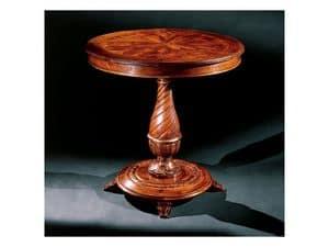 Complements tavolino 753, Tavolino rotondo in legno intagliato