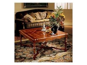 Elena tavolino 769, Tavolino di lusso con piano intarsiato