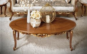 Fenice Art. 1214 - 1614, Tavolino ovale in legno