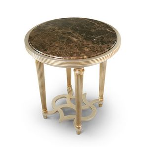 FLORA / tavolino tondo piano marmo, Tavolino con piano in marmo
