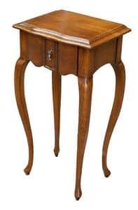 Gabriele FA.0140, Tavolino in legno con 1 cassetto, in stile classico di lusso