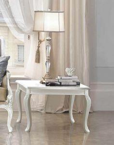 Giulietta Art. 3615 - 3715, Tavolino con gambe intagliate