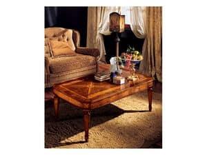 Katerina tavolino 853, Tavolino con intarsi fatti a mano