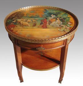 Peter HD.0001, Tavolino da salotto con dipinto