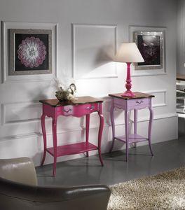 Portalampada '700 Lilla, Tavolino portalampada in stile