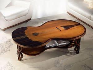TL36 Pois tavolino, Tavolino classico, a forma di contrabbasso, per Soggiorno