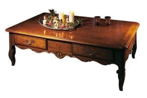 Toulon VS.5021, Tavolino in noce rettangolare, stile provenzale del '700