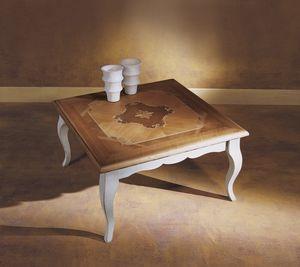 Venezia tavolino '700, Tavolino con piano intarsiato