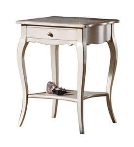 Violette BR.0304.A, Tavolino con cassetto e ripiano sottostante, stile classico