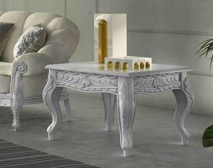 Zaffiro Art. 8241 - 8251, Tavolini intagliati, in legno laccato