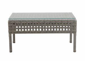Argali 4430, Tavolino rettangolare in rattan sintetico