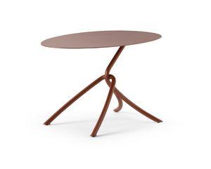 ART. 0126 SKIN COFFE TABLE, Tavolino in metallo, anche per esterni