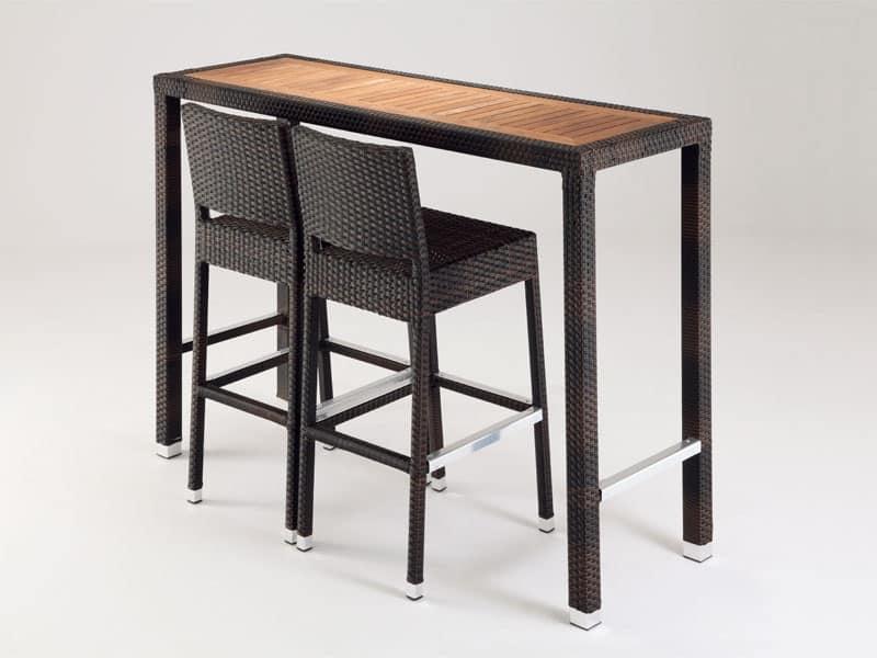 FT 2023, Tavolino alto da giardino, per bar e ristoranti all'aperto