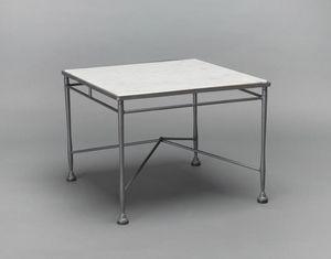 INTRECCIO GF4004TAS, Tavolino da giardino in ferro e marmo