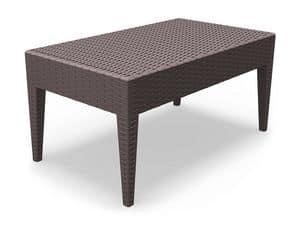 Minorca-TC, Tavolino resistente, vari colori, per ristorante all'aperto