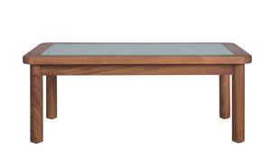 Ring 04C6, Tavolino da giardino in teak e vetro