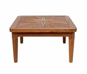 Saint Laurent 0449, Tavolino in legno, piano con rosa dei venti