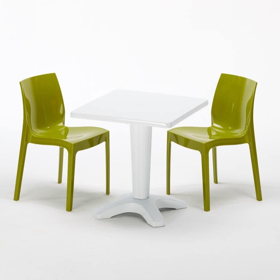 Tavolino Con Sedie Per Ristoranti Bar E Giardini Idfdesign